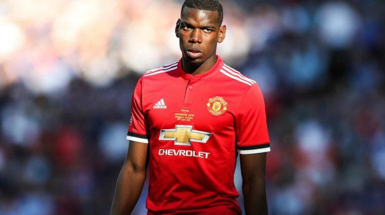 Paul Pogba dans l'équipe de Manchester United