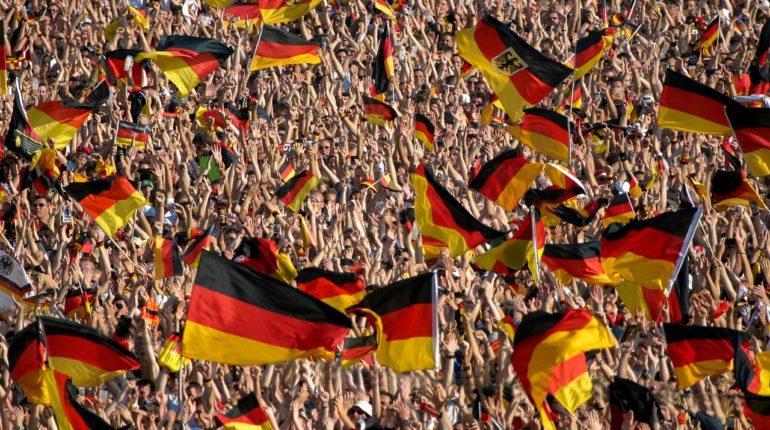 Une foule de supporter de l'Allemagne